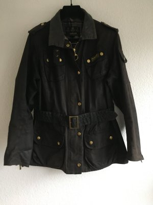 Barbour Giacca cerata marrone scuro Cotone