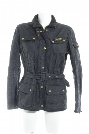 Barbour Short Jacket black quilting pattern casual look