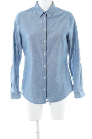 Barbour Langarmhemd blau meliert Casual-Look