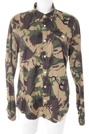 Barbour Shirt met lange mouwen camouflageprint militaire uitstraling