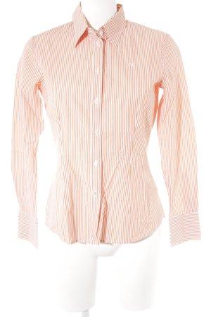 Barbour Shirt met lange mouwen donker oranje-wit gestreept patroon