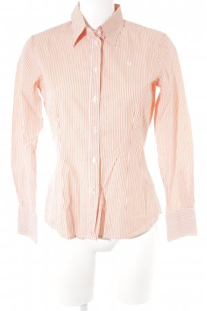 Barbour Long Sleeve Shirt dark orange-white striped pattern business style