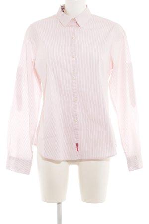 Barbour Shirt met lange mouwen rosé-roze krijtstreep casual uitstraling