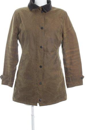 Barbour Lange Jacke hellbraun-dunkelbraun schlichter Stil