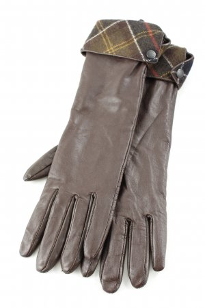 Barbour Lederhandschuhe dunkelbraun klassischer Stil