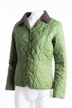 Barbour Quilted Jacket forest green-taupe polyamide