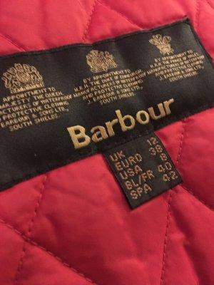 Barbour leichte Steppjacke rot 38 12