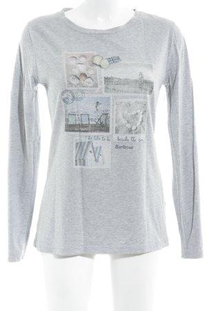 Barbour Top à manches longues gris imprimé avec thème style athlétique