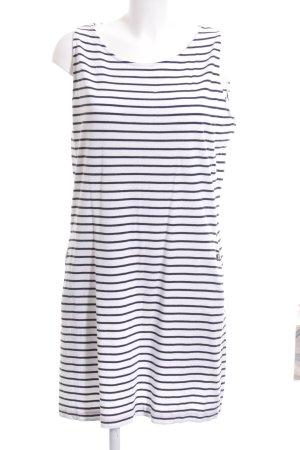 Barbour Jerseykleid weiß-schwarz Streifenmuster Casual-Look