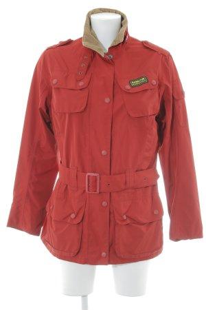 Barbour Outdoor Jacket dark red casual look