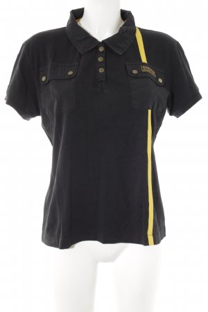 Barbour Polo-Shirt schwarz-dunkelgelb Casual-Look