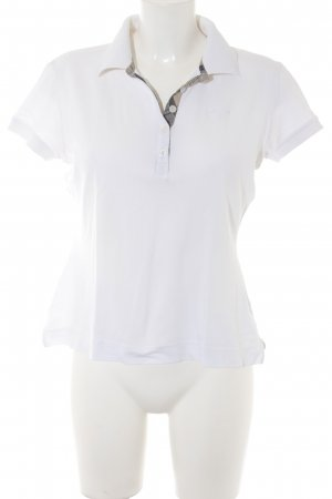 Barbour Polo-Shirt weiß-graubraun Business-Look