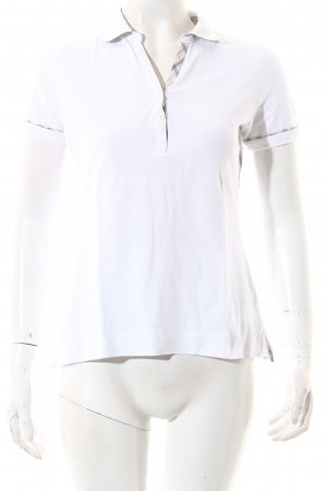 Barbour Polo bianco stile atletico