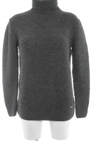 Barbour Turtleneck Sweater dark grey casual look