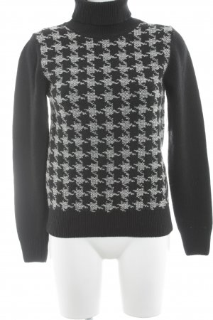 Barbour Turtleneck Sweater black-natural white abstract pattern casual look