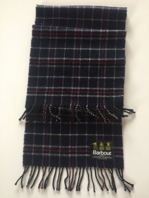 Barbour Wollen sjaal donkerblauw
