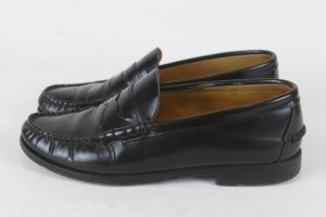 Barbour Schuhe Slipper Loafer Gr. 39 schwarz Leder (E/MF/SC)