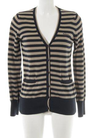 Barbour Shirtjacke dunkelblau-beige Streifenmuster Casual-Look