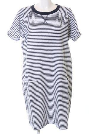 Barbour Shirtkleid weiß-schwarz Allover-Druck Casual-Look
