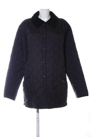 Barbour Gewatteerd jack zwart quilten patroon casual uitstraling