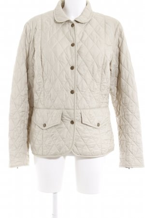 Barbour Quilted Jacket beige quilting pattern casual look