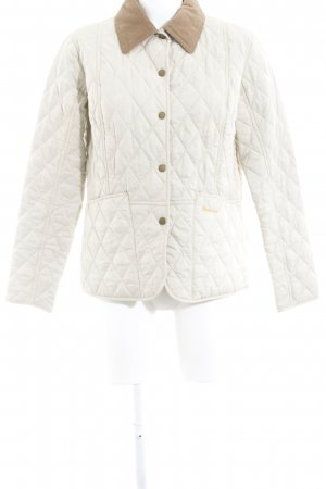 Barbour Quilted Jacket cream casual look
