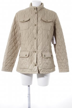 Barbour Steppjacke creme Steppmuster Casual-Look