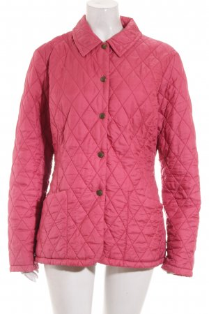 Barbour Steppjacke himbeerrot Steppmuster Casual-Look