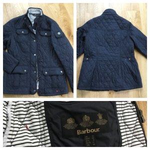 Barbour Quilted Jacket white-dark blue mixture fibre