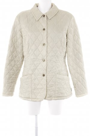 Barbour Steppjacke sandbraun Karomuster Casual-Look