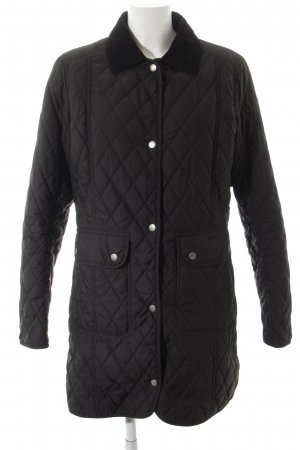 Barbour Steppjacke schwarz Casual-Look