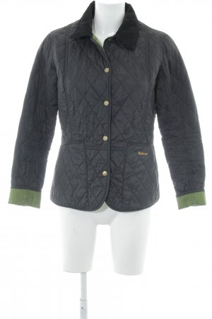 Barbour Quilted Jacket black quilting pattern casual look