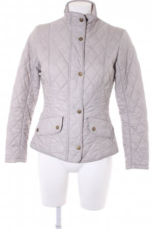 Barbour Quilted Jacket taupe quilting pattern casual look