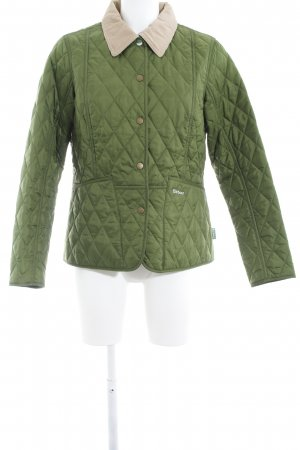 Barbour Quilted Jacket forest green casual look