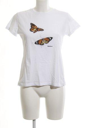 Barbour T-shirt dierenprint casual uitstraling
