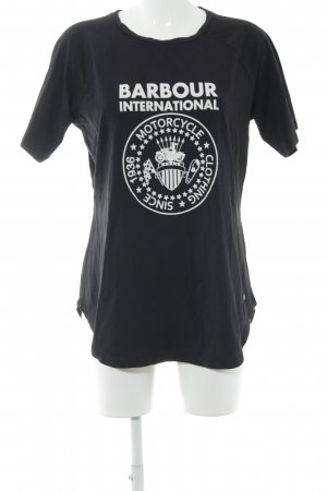 Barbour T-Shirt black themed print simple style
