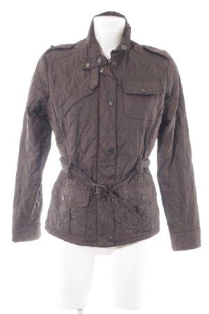 Barbour Übergangsjacke schwarzbraun Steppmuster Casual-Look