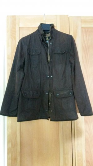 Barbour Waxed Jacket black brown cotton