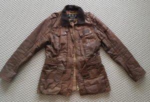 Barbour Waxed Jacket dark brown-cognac-coloured