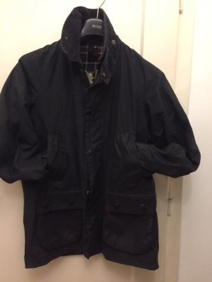 Barbour Waxed Jacket blue