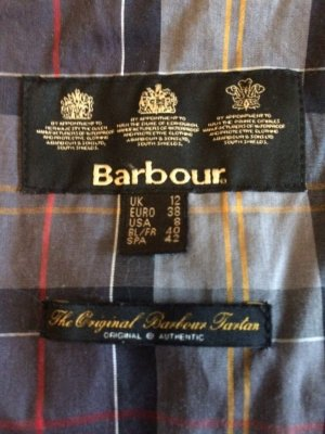 Barbour Wachsjacke schwarz