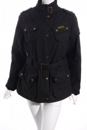 Barbour Wachsjacke schwarz Casual-Look