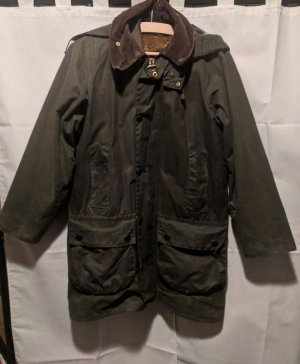 Waxed Jacket grey brown-khaki