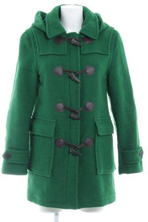 Barbour Wollmantel waldgrün-braun Casual-Look