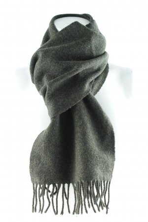 Barbour Bufanda de lana verde oscuro look casual