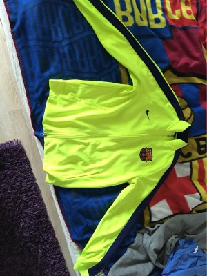 Nike Cardigan neon yellow-dark blue