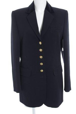 bardehle Blazer largo color oro-azul oscuro estilo «business»