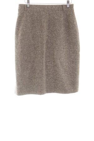 bardehle Jupe en laine brun moucheté style d'affaires