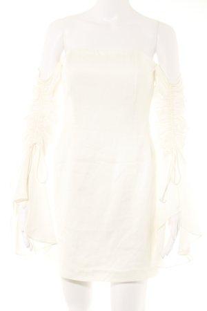 Bardot Vestido bandeau blanco elegante