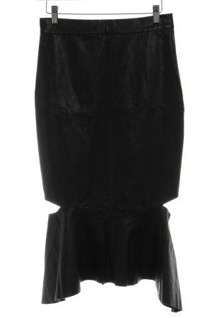 Bardot Rok van imitatieleder zwart casual uitstraling